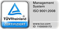 TUEV-Rheinland zertifiziert
